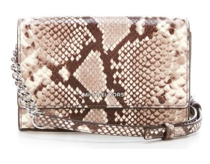 Michael Kors Ruby Snake-Embossed Clutch - Natural - - Shop Burch Tory Online