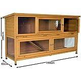6ft Luxury Coach House Double Storey Rabbit Hutch/Guinea Pig Hutch