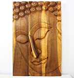 Buddha Panel Pacceka Sust Wood 24 x 36 inch Hgt w Eco Friendly Livos Oak Oil Fin
