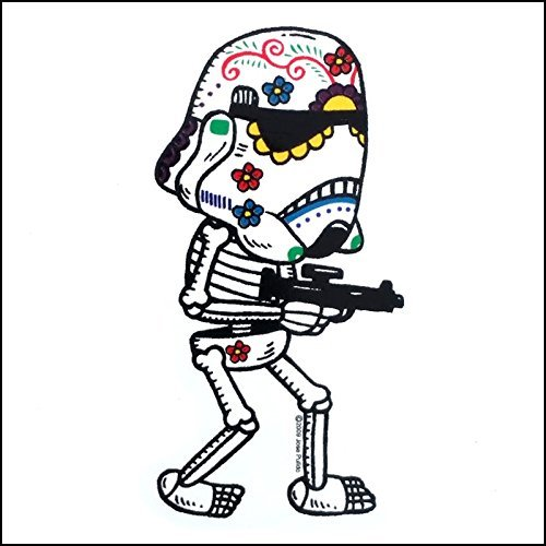 f8216052 Amazon.com: Star Wars Inspired Stormtrooper Calavera Die Cut Vinyl Sticker Sugar  Skull - Day of the Dead - Weather Proof Decal: Automotive