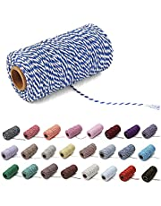 Natural Twine Cotton String Christmas Natural Jute Colored Cotton String Rope Craft Cord Gift Wrapping Twine