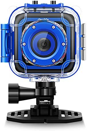Ourlife Kids Waterproof Camera with Video Recorder Includes 8GB Memory Card (Kids Camera Navy-Blue)