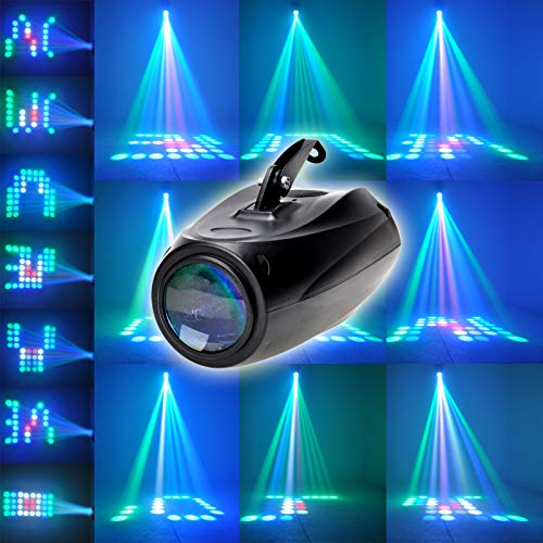 WINMART RGBW Moonflower Pattern Stage Light Sound Active Auto and Voice-activated Moonflower Projector Lighting for DJ Party Wedding Events Club(Black)