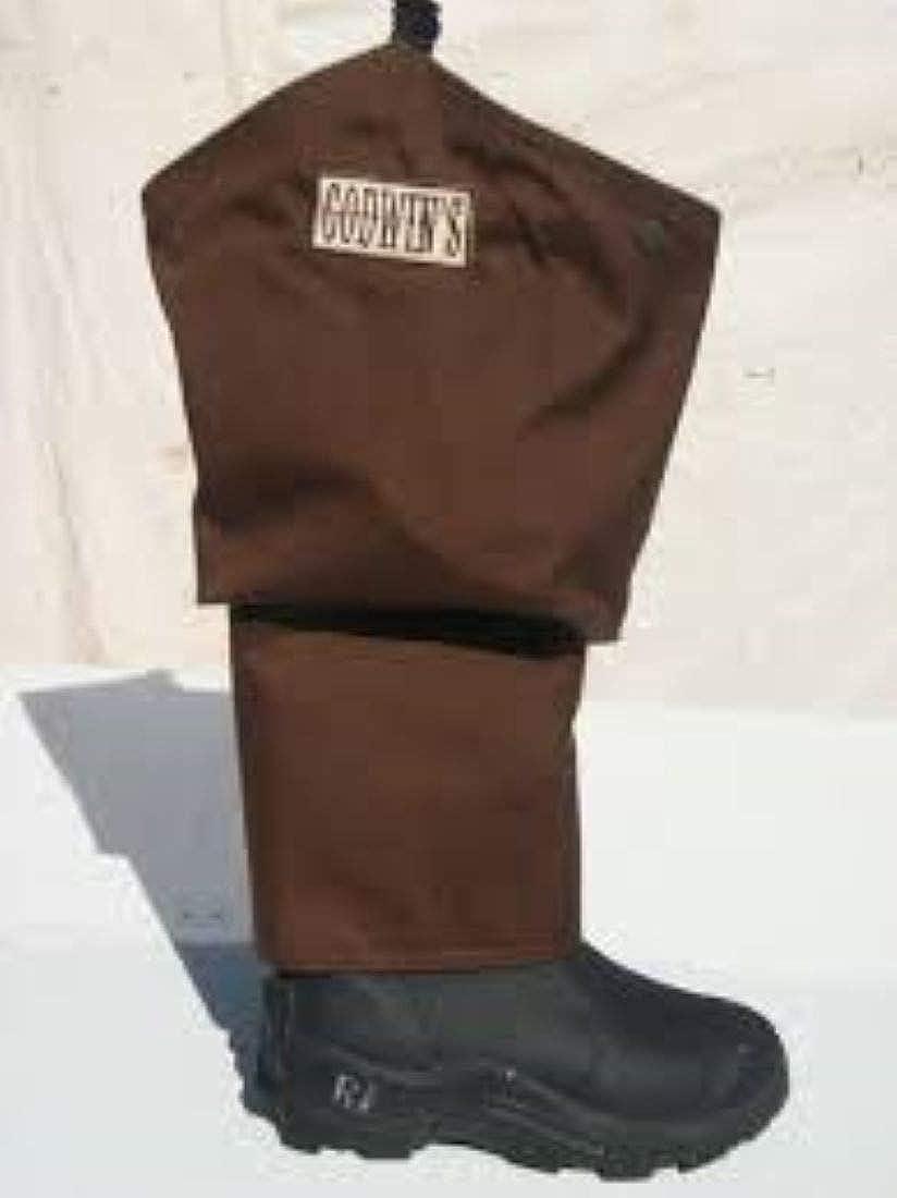 9 Godwins Muck Hip Boot w//Snake Chap Brown