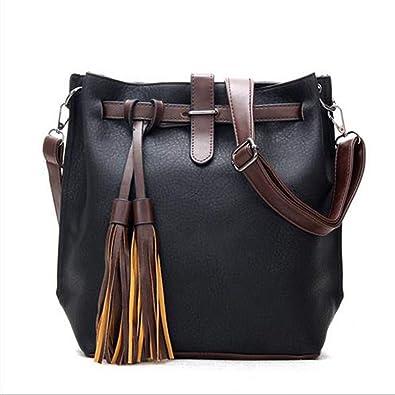 Amazon.com  Lanyan Womens Purses and Handbags Ladies Designer Satchel Tote  Bag Shoulder Bags (black)  Shoes a104b84d8fd86