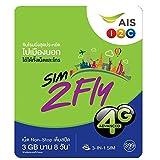 Asia 12 Countries Preloaded Data SIM Card 3GB/8Days - Japan, South Korean & More