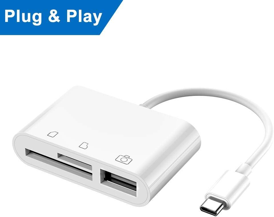 Lector de tarjetas SD, cable adaptador para teléfono y tableta ...