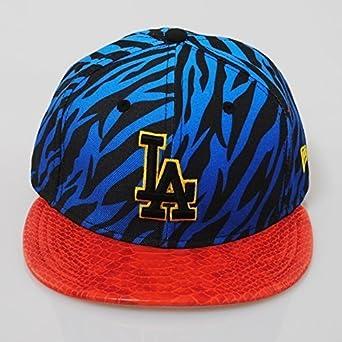 5bcd1f71 New Era 9fifty LA Dodgers Jungle Mash Up Tiger Snakeskin Blue Strapback Hat  Cap: Amazon.co.uk: Clothing