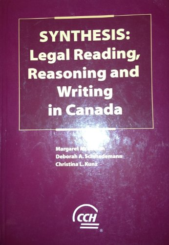 Synthesis: Legal Reading, Reasoning and Writing in Canada