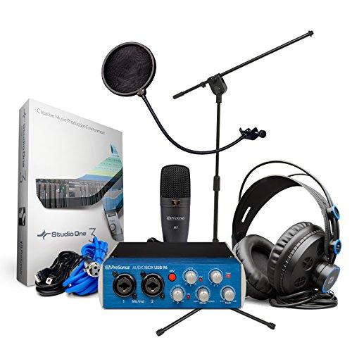 Studio Recording Package BONUS PAK w/ Mic Stand and Pop Filter (Microphone Pak)