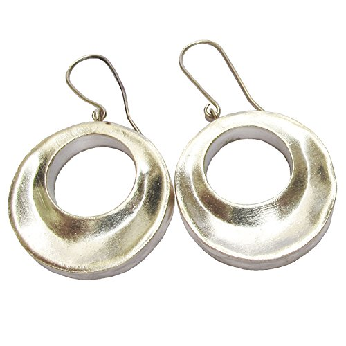 Hill Tribe Silver 45mm - WEIGHT 10.40 G. BEAUTIFUL HILL TRIBE SILVER EARRING SIZE NO.27 x 45 MM .
