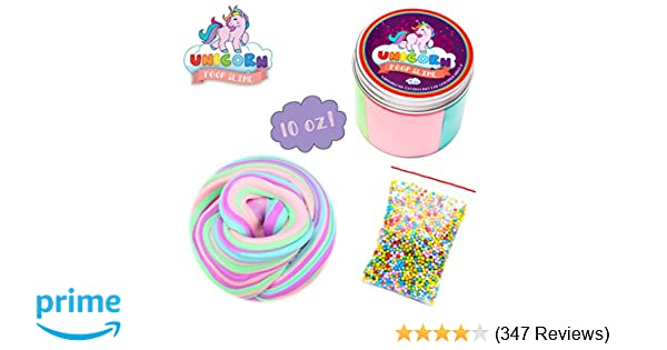 Amazon.com  Fluffy Unicorn Poop Slime kit - Unicorn gifts for girls - Soft  extra Fluffy Floam putty package  Toys   Games 50340a6886