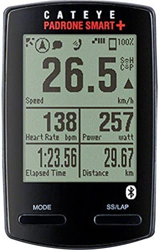 Black CC-SC100B Cycling Computer CatEye Padrone Smart