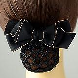 usongs Career flower head nurse hairnet hotel stewardess Bank headdress flower hairpin Korean head ornaments with string bag