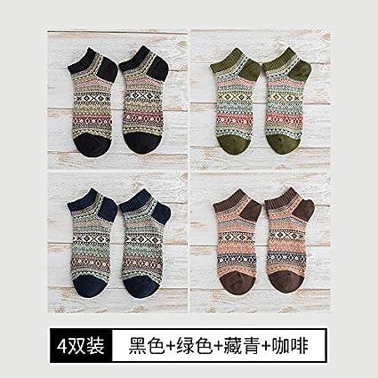 Calcetines de barcos de primavera y otoño Viento nacional de los hombres Fundación japonesa Personalidad Calcetines