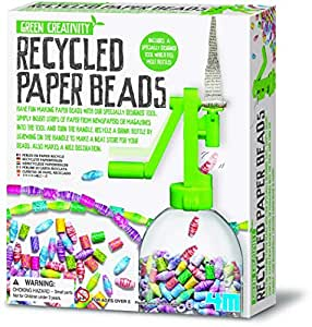 4M Fun Craft Green Creativity - Recycled Paper Beads  Educational Toys