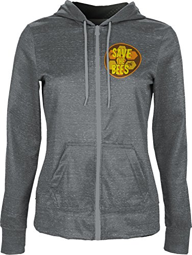 ProSphere Women's Save the Bees Causes Heather Fullzip Hoodie (Apparel) - Bees The Donation Save