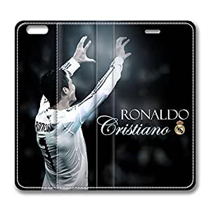 iPhone 6 Case, iPhone 6 Leather Case - Slim Fit Folio Flip Leather Case for iPhone 6 Cristiano Ronaldo Celebration Special Edition Wallet Leather Cover for iPhone 6 4.7 inch