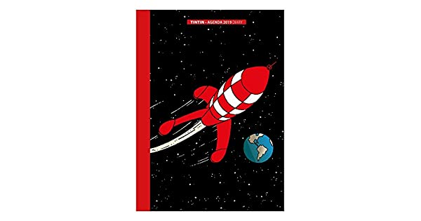 Amazon.com: Agenda de bolsillo 2019 Tintin The Moon ...