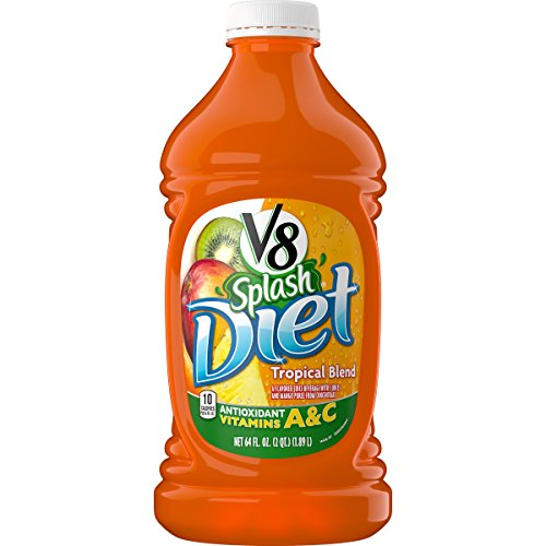 V8 Splash Diet Tropical Blend, 64 oz. Bottle (Pack of 6)