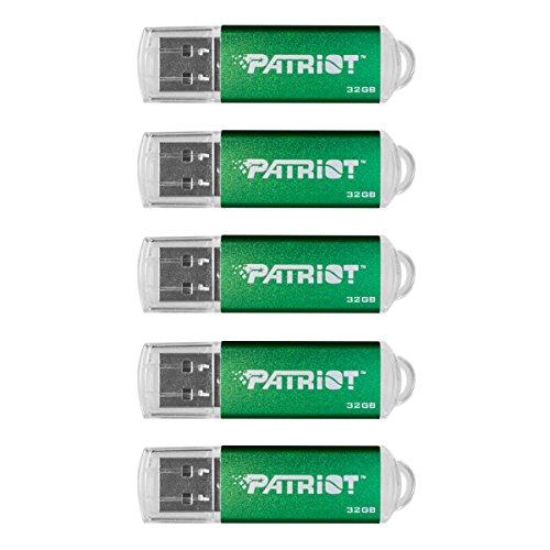 (Patriot Memory 32GB Pulse Series USB 2.0 Flash Drive - 5 Pack - Green (PSF32GXPPG5PK))