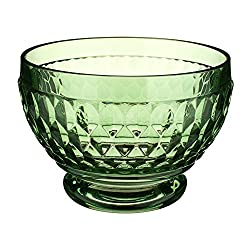 Green Crystal Boston Glass Bowl Set of 4