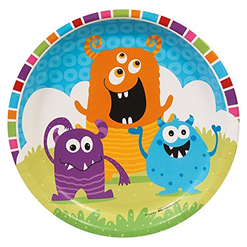 Aliens and Monsters Party Supplies - Dinner Plates (8) (Monster Inc Party Tablecover compare prices)