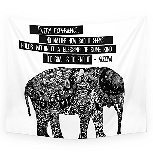 """Society6 Blessing Buddha Quote Wall Tapestry Small: 51"""" x 60"""
