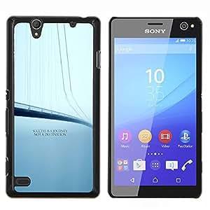YiPhone /// Prima de resorte delgada de la cubierta del caso de Shell Armor - Éxito Viaje Destino Cita Puente - Sony Xperia C4