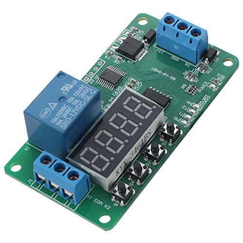 SODIAL DC 12V Multifunction PLC Self-lock Delay Relay Cycle Timer Module Switch Control ()