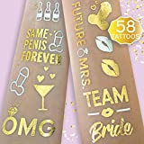 Bachelorette Party Flash Tattoos - Team Bride, Future Mrs, Buy Me A Drink + ...