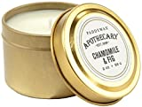 Paddywax Apothecary Collection Scented Travel Tin Candle, 2-Ounce, Chamomile & Fig