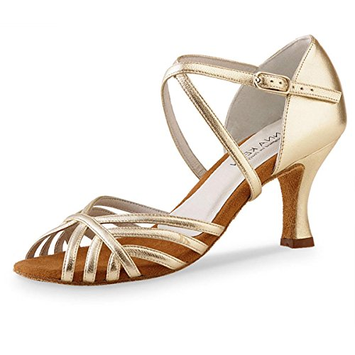 Anna Kern - Mujeres Zapatos de Baile 598-60 - Cuero Oro - 6 cm [UK 1] Oro