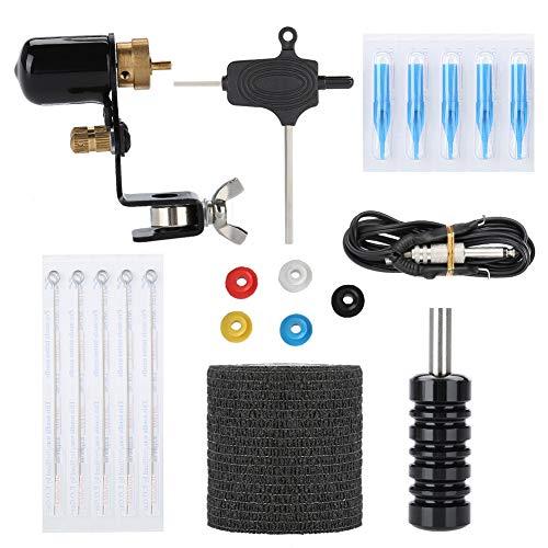 Complete Tattoo Kit for Beginners, Tattoo Machine Motor Set Film Coils Frame For Shader Supply Equipment(Black, 03)