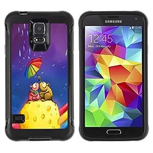 iKiki Tech / Estuche rígido - Colorful Umbrella Rainbow Cheese Love Art - Samsung Galaxy S5 SM-G900
