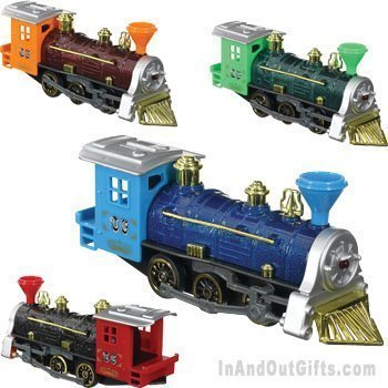 (Toysmith Pull Back Train (Colors May Vary))