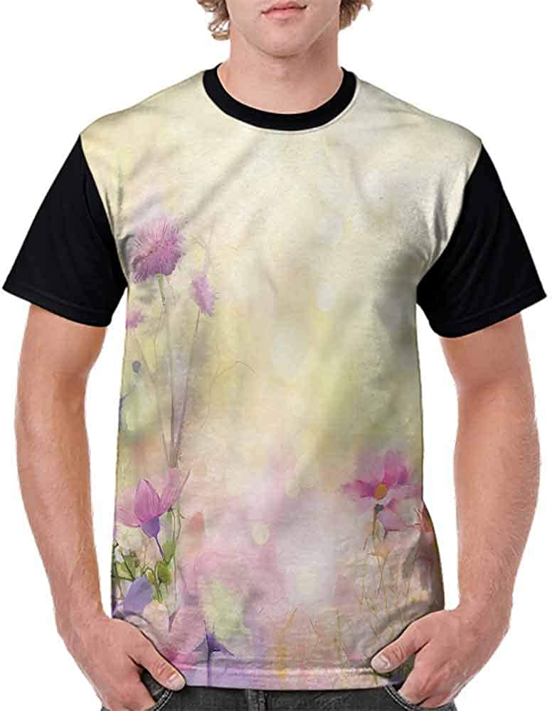 Casual Short Sleeve Graphic Tee Shirts,Vintage Magnolia Blooms Fashion Personality Customization