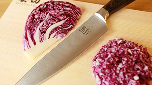 ISSIKI Cutlery GYUTO 8-Inch Chef's Knife Directed by Japanese, Impressive Gift Idea, High-Carbon Stainless Steel Blade w/ Prolonged Sharpness & Pakkawood Ergonomic Handle For Kitchen, Deluxe Gift Box by ISSIKI Cutlery (Image #5)