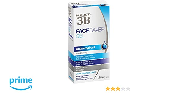 Neat 3B Face Saver Gel - Antiperspirante en gel - 50g: Amazon.es: Salud y cuidado personal