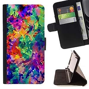 For Samsung Galaxy Note 5 5th N9200 Case , Colores vibrantes abstracta 3D- la tarjeta de Crédito Slots PU Funda de cuero Monedero caso cubierta de piel