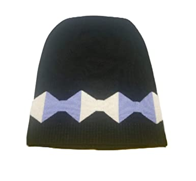 292d11a1 Amazon.com: Kate Spade Oversized Geo Bow Wool Beanie,Black/Aster ...