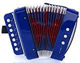 MAGIKON Children Button Accordion Toy , Also Nice As Performance Props Blue