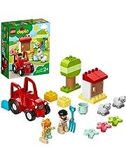 LEGO 10950 DUPLO Town Boerderij Tractor & Dierenverzorging Speelgoed met Figuren van Schapen en Boeren voor Kinderen vanaf 2 Jaar