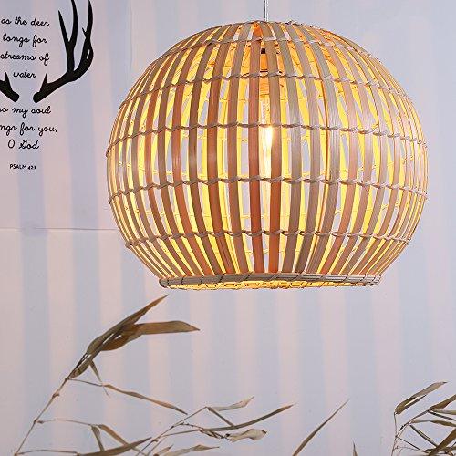 Arturesthome Southeastern Bamboo Hanging Lamp, Suspension Luminaire Bambou, Handmade Bamboo Lighting, Natural Color Bamboo Hanging Light Fixture