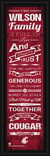 Washington State University - Washington State Cougars - Family Cheer Personalized Framed Print - Customize Now - Officially Licensed - Decade Awards - Prints Charming
