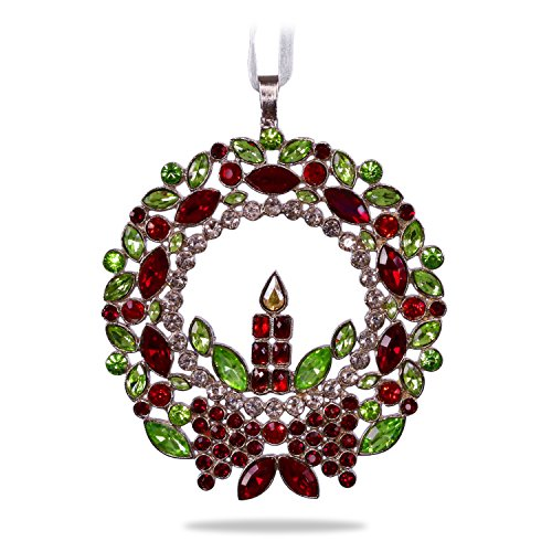 Hallmark Keepsake Christmas Ornament 2018 Year Dated, Radiant Wreath, Gemstone and ()