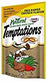TEMPTATIONS Natural Treats for Cats Free Range Chicken Flavor 2.47 oz. (Pack of 12) by Temptations