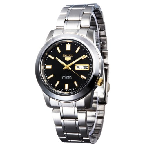 Seiko-Mens-SNKK17-Stainless-Steel-Analog-with-Black-Dial-Watch