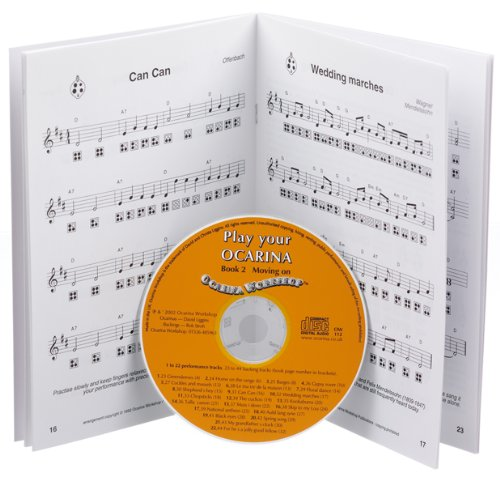 Play your Ocarina Complete Guide CD Ocarina Rouge /à 6 trous et quatre livres d/'ocarinas dans un volume complet avec quatre CD