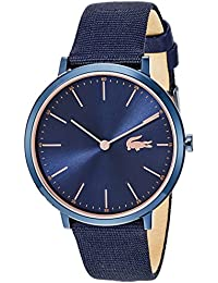 Women's Moon Ultra Slim Stainless Steel Quartz Watch with Nylon Strap, Blue, 20 (Model: 2000999)